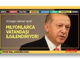 Erdoğan talimat verdi! Milyonlarca vatandaşı ilgilendiriyor