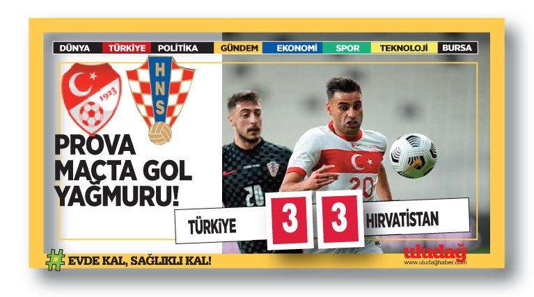 Türkiye – Hırvatistan maç sonucu: 3-3