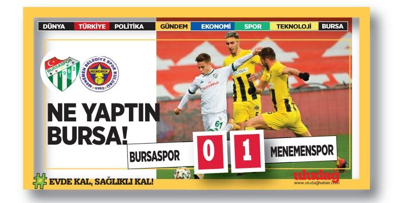 Bursaspor 0-1 Menemenspor