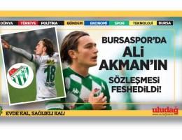 Bursaspor'da Ali Akman'ın sözleşmesi feshedildi