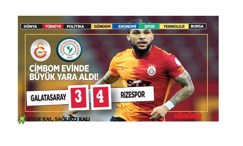 Galatasaray sahasında Çaykur Rizespor'a 4-3 yenildi