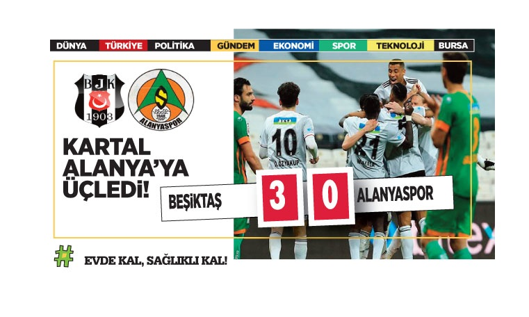 Beşiktaş: 3 – Alanyaspor:0