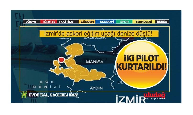 İzmir'de askeri eğitim uçağı denize düştü!