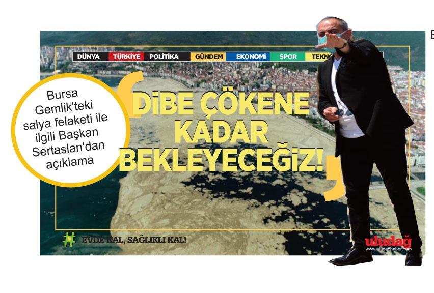 Bursa Gemlik'teki salya felaketi ile ilgili Başkan Sertaslan'dan açıklama