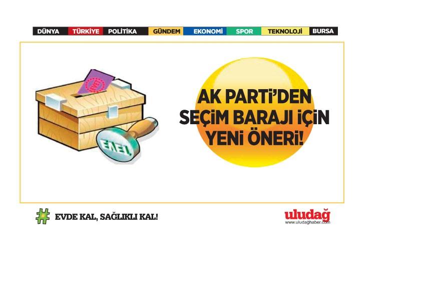 AK Parti'den seçim barajı için yeni öneri