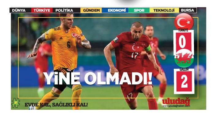 Türkiye – Galler: 0-2
