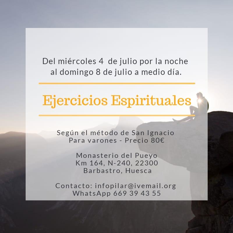 ejercicios espirituales julio 2018