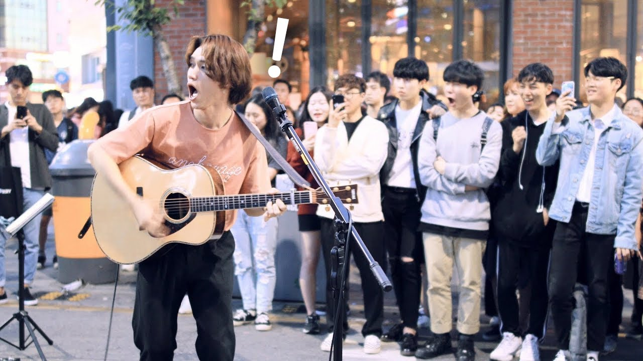 K-POPバンド GIFT @韓国 ソウル路上ライブ