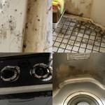 年末大掃除のお手伝い ハウスクリーニング キッチン周り(シンク 台所 レンジ)や 風呂場 浴槽 トイレ のクリーニング 清掃のご依頼でした。