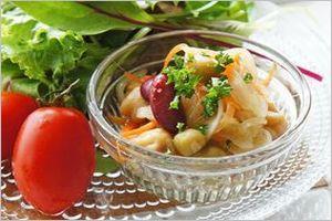 酢玉ねぎのお豆サラダ