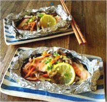 新玉ねぎとしめじが決め手の鮭ホイル焼き