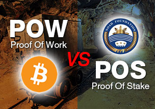 承認方式がPOWのビットコインとPOSのノアコインの違い