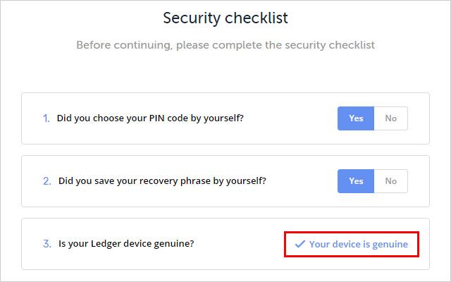 「Your device is genuine」と表示されましたら、あなたのデバイスが正規品ということです