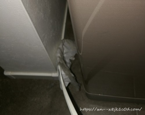 冷蔵庫と壁の隙間のお掃除③
