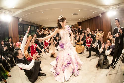 結婚式のフラッシュモブ