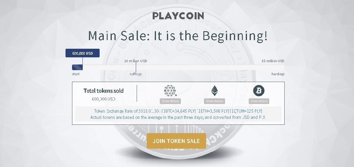 【仮想通貨ニュース】決済系コインICO:Playcoin~ゲーム市場の革新的仮想通貨〜プレイコイン