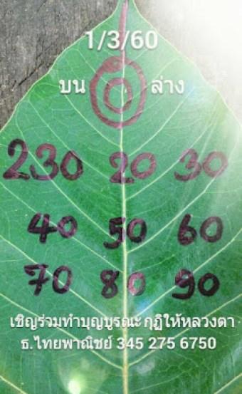 เลขจากใบโพธิ์1/3/2560, เลขจากใบโพธิ์1-3-2560, เลขจากใบโพธิ์1 มีค 2560, เลขจากใบโพธิ์