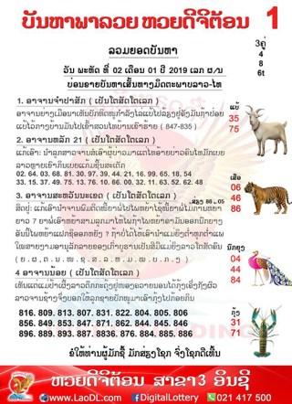 ปัญหาพารวย 2/1/2562, ปัญหาพารวย 2-1-2562, ปัญหาพารวย, ปัญหาพารวย 2 ม.ค 2562, หวยลาว, เลขลาว