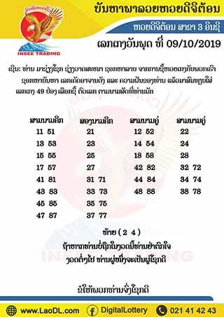 ปัญหาพารวย 9/10/2562, ปัญหาพารวย 9-10-2562, ปัญหาพารวย, ปัญหาพารวย 9 ต.ค. 2562, หวยลาว, เลขลาว
