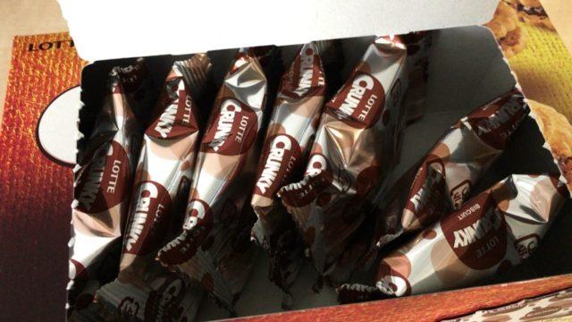 ロッテチョコクランキーの包装