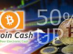 ビットコインキャッシュの価格が1週間で50%の上昇