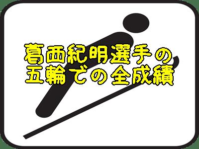 葛西紀明選手のオリンピック全成績