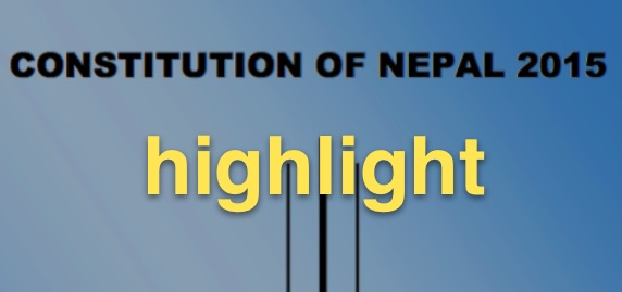 constitution of nepal highlight