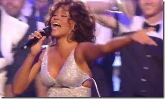 Whitney Houston wardrobe malfuction