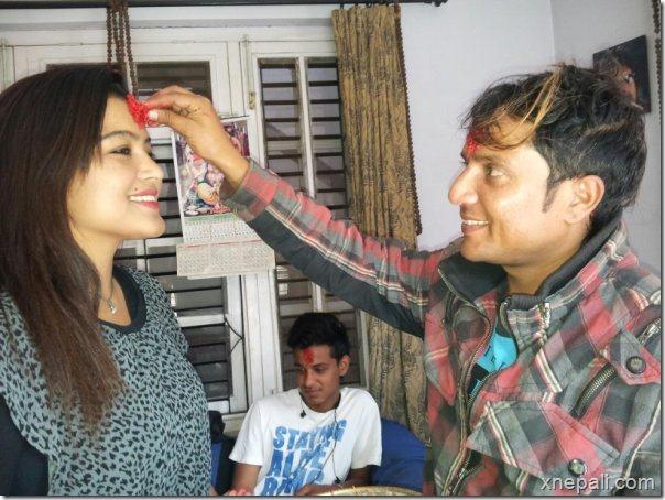 rekha_thapa_shyam_bhattarai_dashain_2069