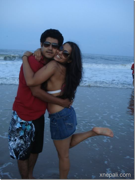 priyanka and rochak in a beach