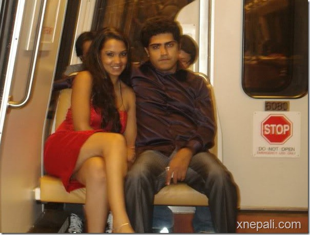 priyanka and rochak in a train