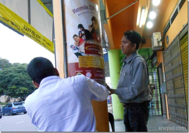 remix dhamaka promotion - postering on street