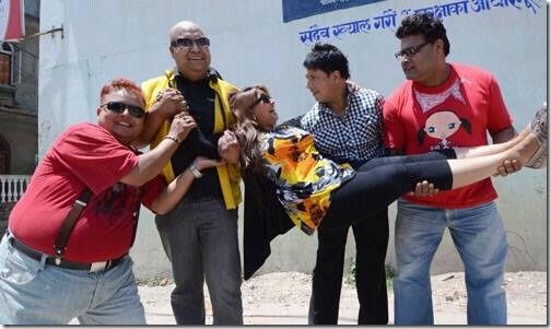 deepa being carried on her birthday
