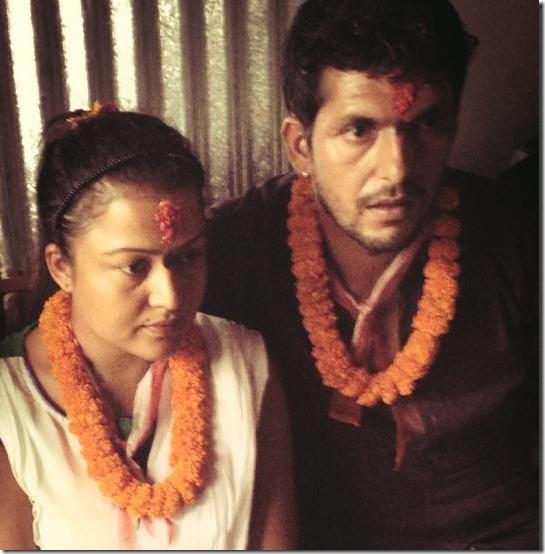 rekha thapa with Kishor khatiwada dashain