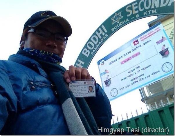 himgyap tasi voting station in boudha