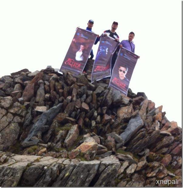 rajesh hamal climbed mountain with hasiya poster 2