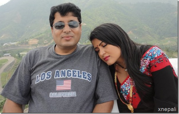 rekha thapa rests on chhabi's shoulder