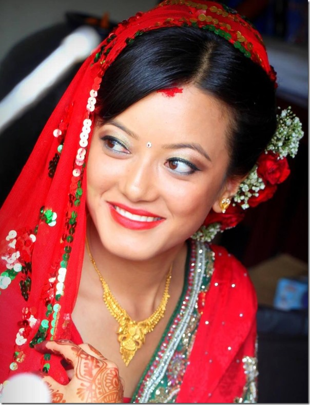 prakriti shrestha bridal dress