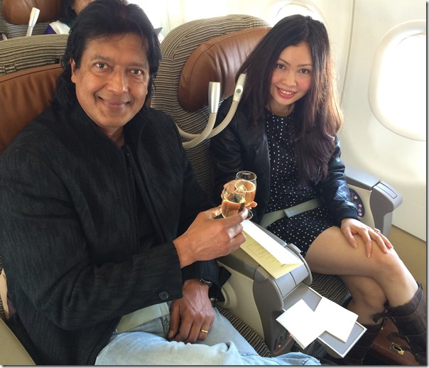 rajesh hamal and madhu bhattarai on their return flight