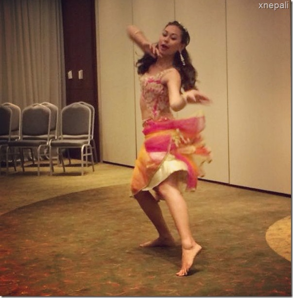 prinsha shrestha in Egypt training for miss eco