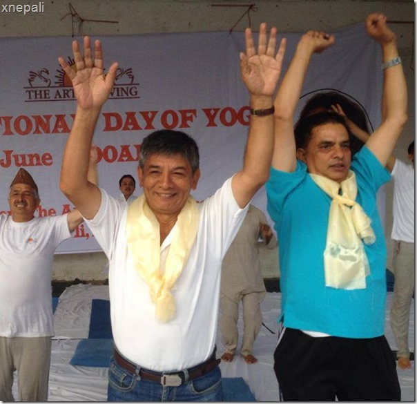intl yoga day maha at indian embassy3