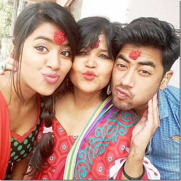 Rista Basnet Dashain 2015 celebration6