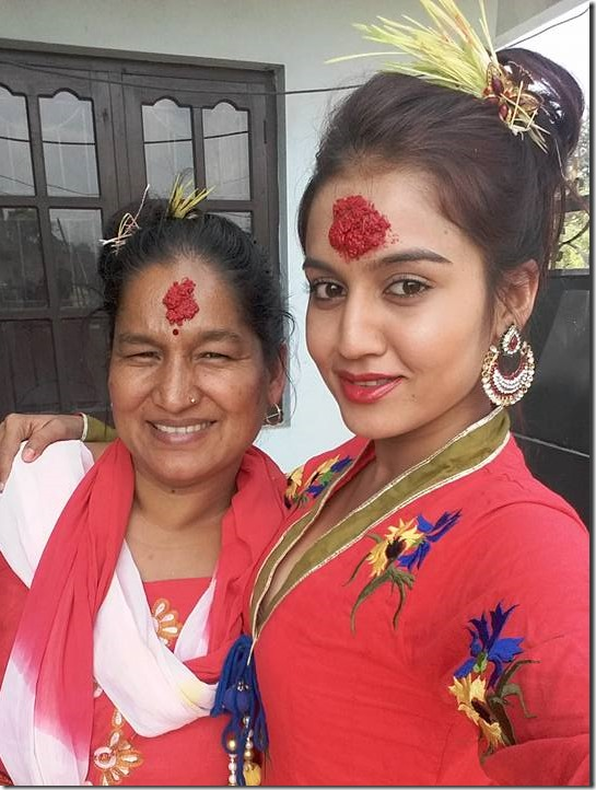 Surabina Karki - dashain 2015