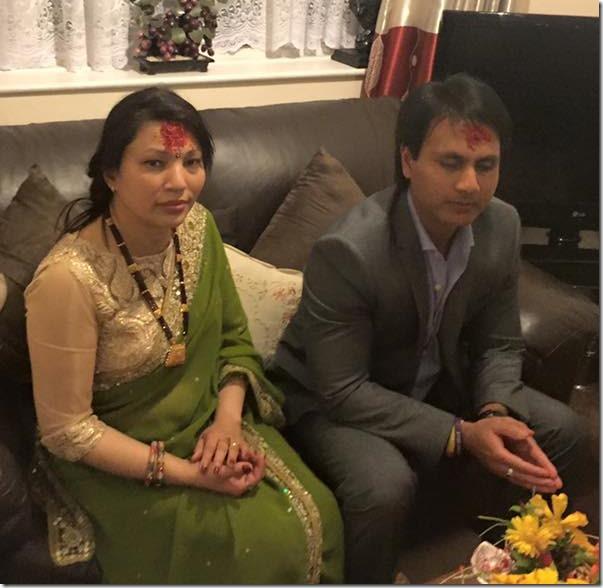 dhruba dutta receives tika 2015 dashain 2