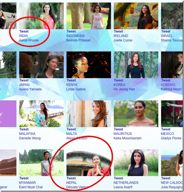 dibyata vaidya and aaita in eco beauty video competition miss earth