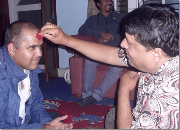 chhabi raj ojha with rishi lamichhane in dashain 2015