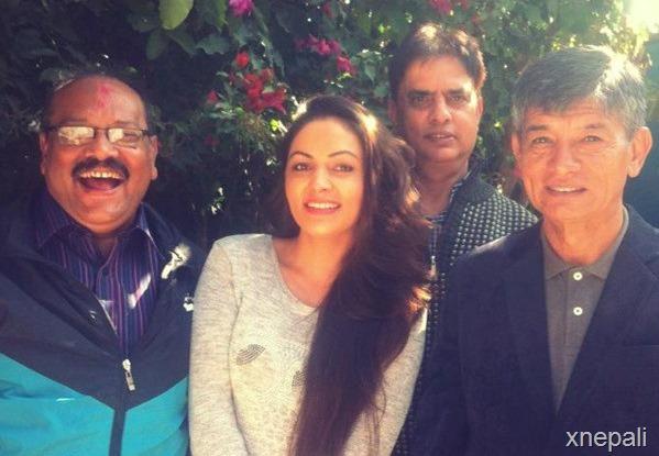 maha with nandita in saybaas shooting