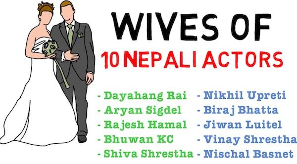 wives of 10 Nepali actors