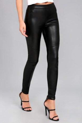 Free People Moto Black Vegan Leather Leggings 3
