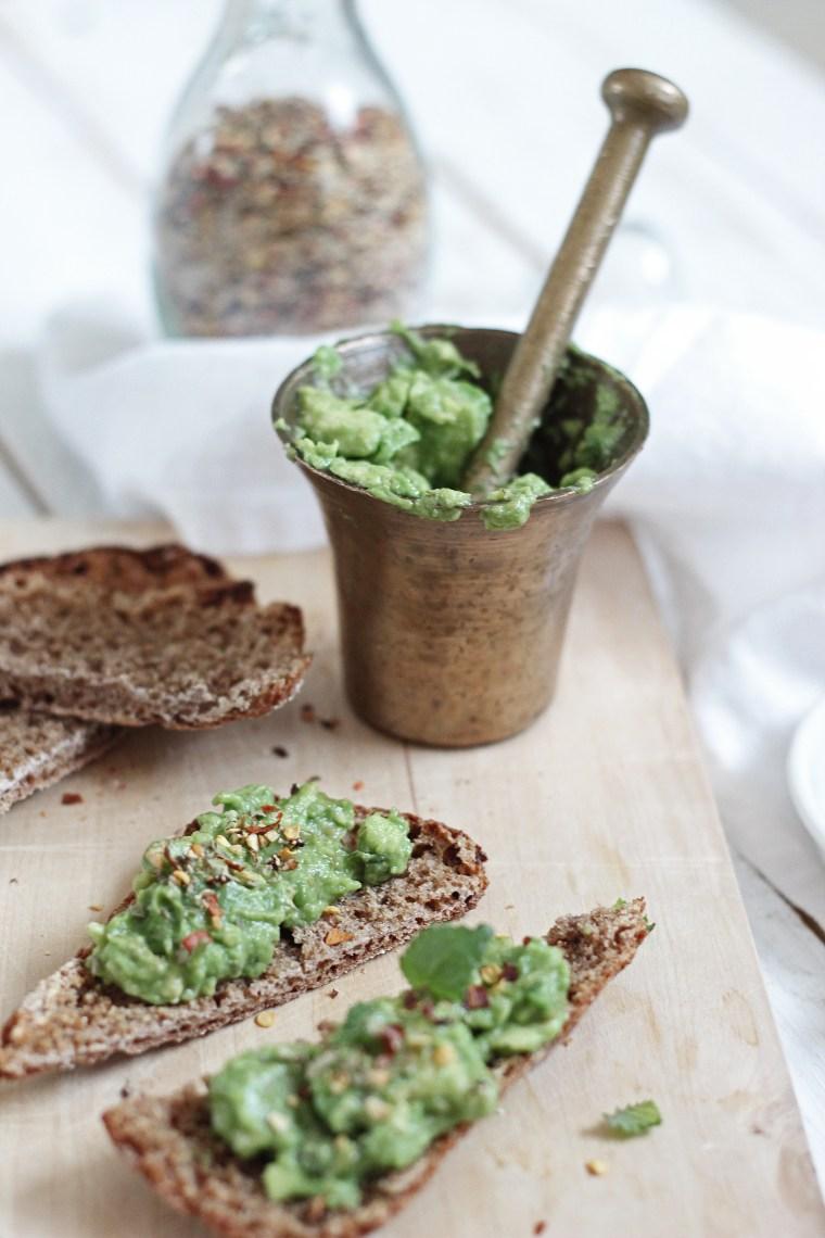avocado rye toast
